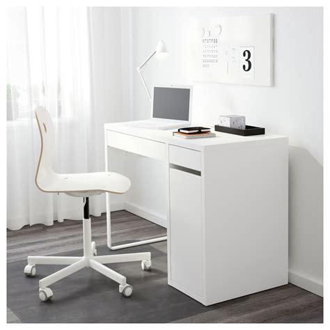 White Desk by Micke Desk White 105 X 50 Cm Ikea