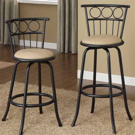 black swivel counter height stools set of 2 bar pub counter height barstools swivel