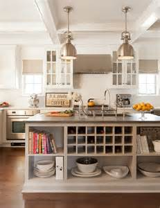 kitchen island with shelves built in wine rack transitional kitchen ruth