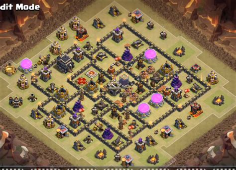 coc layout th9 anti gowipe th9 war base anti gowipe and dragon new update 2016 cocbases