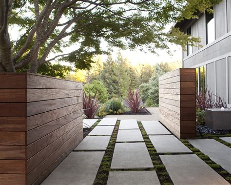 modern landscaping good looking landscape timbers look san francisco modern