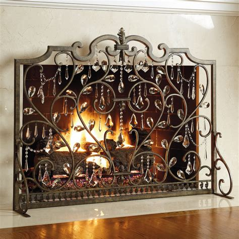 where to buy fireplace screen frontgate louviere screen