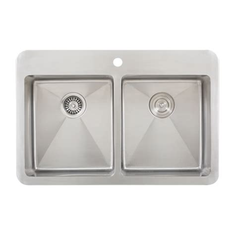 Kitchen Sinks Overmount Ticor Tr1700 Overmount 16 G Stainless Steel Bowl Kitchen Sink