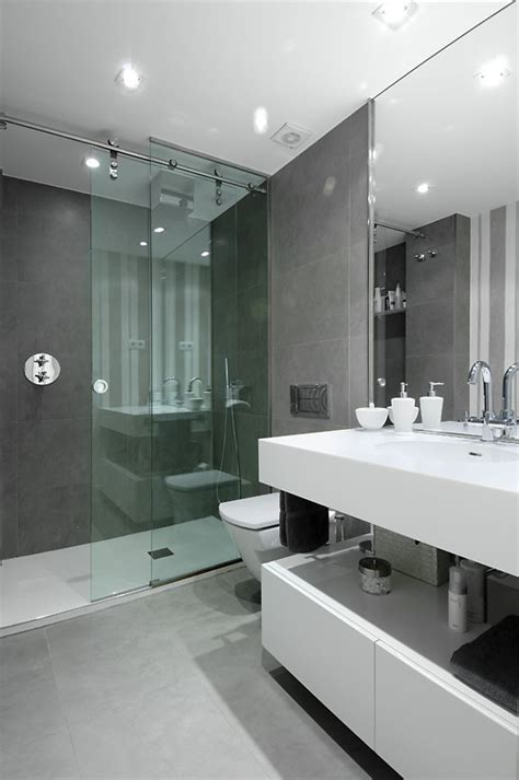 Contemporary Shower Doors Sliding Shower Doors Bathroom Contemporary With Glass Shower Large Mirror Beeyoutifullife