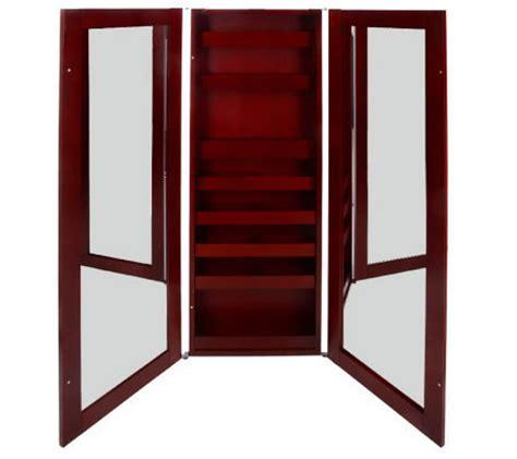 3 way mirror cabinet hanging 3 way mirror cosmetic cabinet by lori greiner