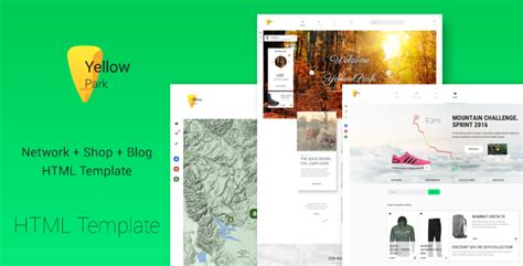 html5 social network template yellowpark social network shop and html5 template