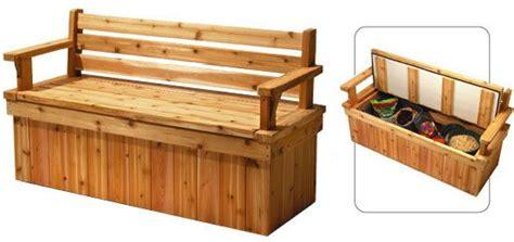 plans  deck bench   storage space  seat