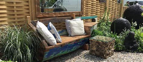 boat garden furniture wooden boat seats tristan cockerill