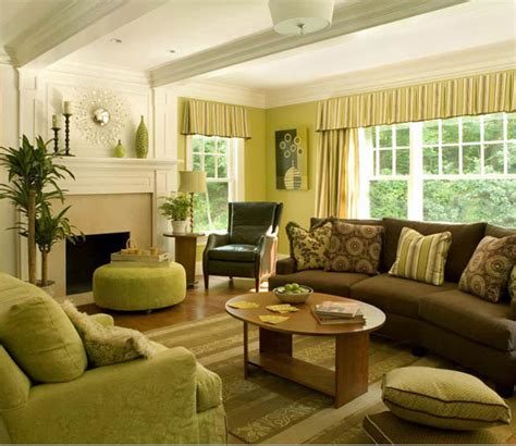 green and brown room decorating ideas living rooms yellow walls 2017 2018