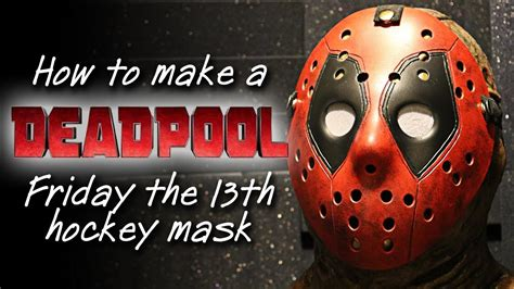How To Make A Jason Mask Out Of Paper - how to make a deadpool jason mask friday the 13th diy
