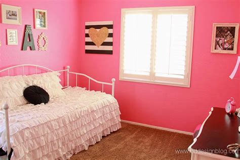 hot pink room bright and bold girl s bedroom painted confetti