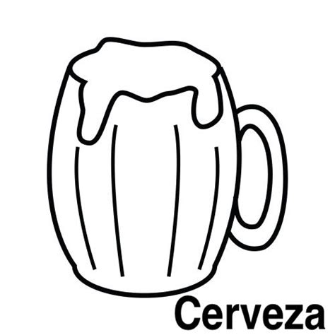 imagenes para colorear jarra pinto dibujos cerveza para colorear