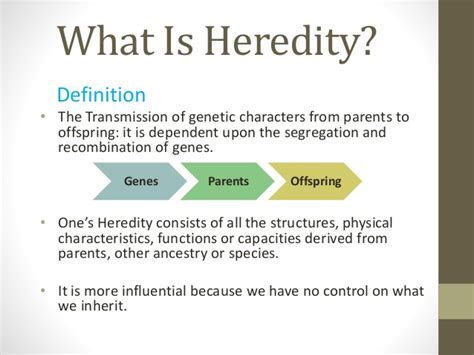 what is meaning of social heredity