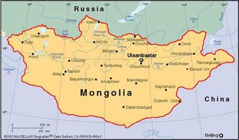 themes of geography mongolia map of mongolia intourtrade co ltd