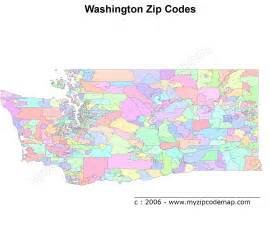 Seattle Washington Zip Codes Map by Fastpage Name
