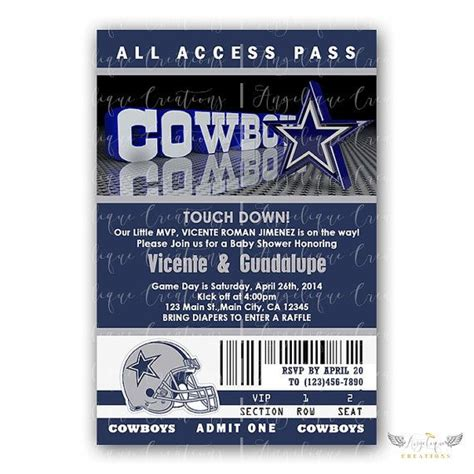 Dallas Cowboys Baby Shower Invitations by Dallas Cowboy Invitations Blank Thank You By