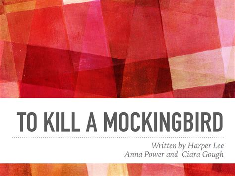 themes in to kill a mockingbird prezi 3rd year journalism