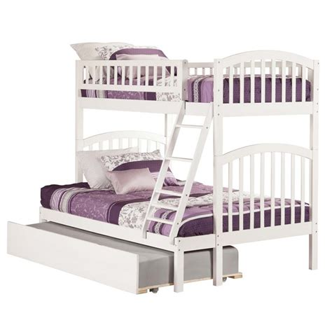 twin over twin bunk bed with trundle atlantic furniture richland urban twin over full trundle