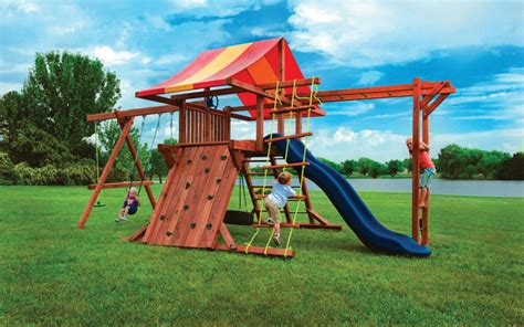 backyard play structures wood outdoor play structures pot o gold with monkey bars