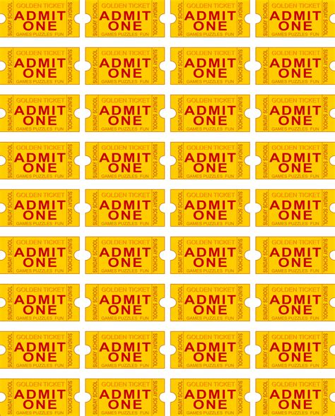 printable arcade tickets free printable admit one ticket template clipart best