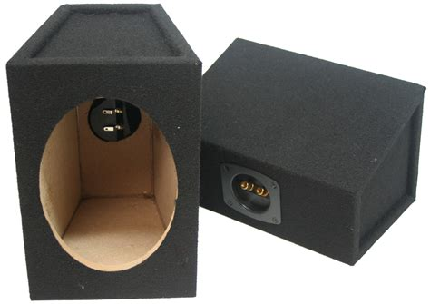 Box Speaker 6 universal car audio 6x9 quot speaker box enclosure pair black