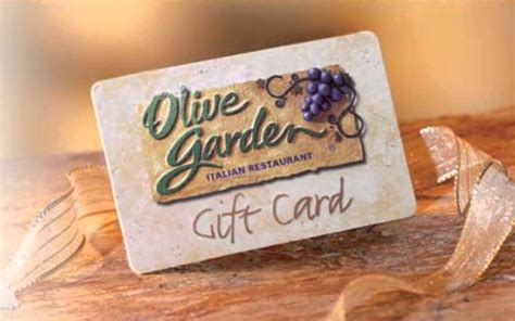 Where Are Olive Garden Gift Cards Redeemable - olive garden 100 gift card 2016