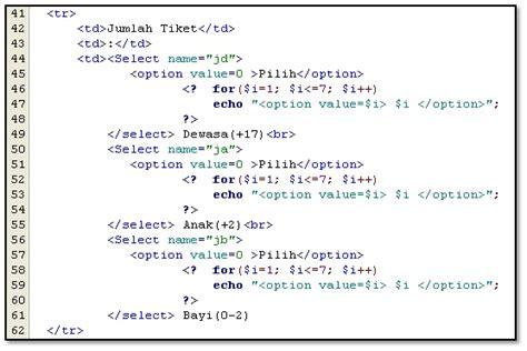 membuat e toll dimana materi online percabangan dan perulangan dalam php