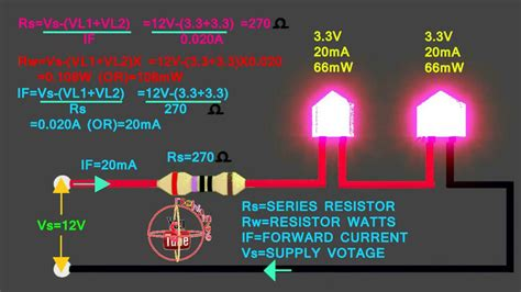 led resistor calculator 12v 3 3v 3 3v led how to connect 12v series circuit how to calculate led series resistor watts