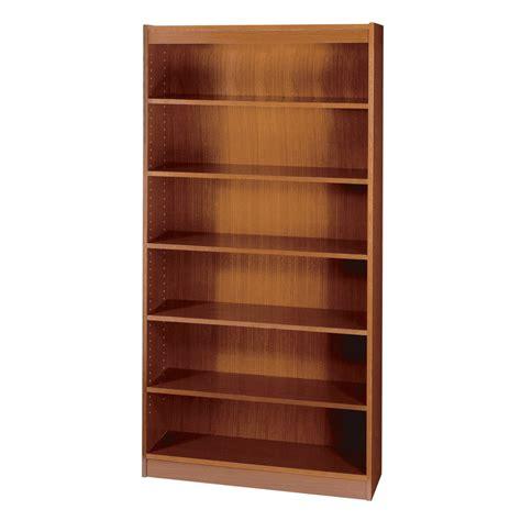 safco 7 shelf square edge veneer bookcase cherry kitchen
