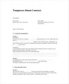 temporary contract template rental contract 10 free pdf word documents