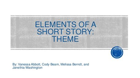 different themes of a short story elements of a short story theme