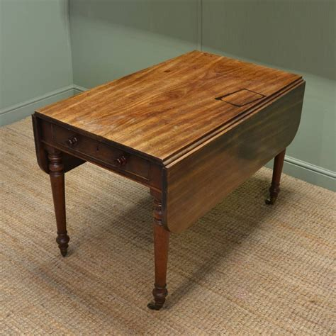 kitchen drop leaf table characterful country antique regency solid mahogany drop