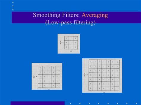 high pass filter gaussian spatial filtering