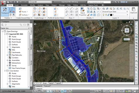 geohecras hec ras software cross sections flood maps
