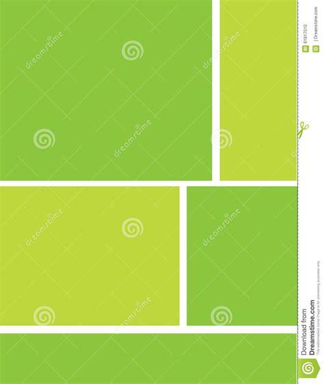 green letterhead brochure background stock illustration