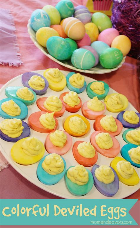 colorful eggs colorful deviled easter eggs