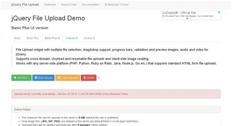 jquery file upload demo