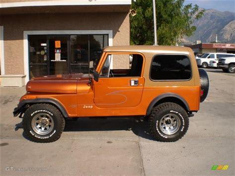jeep orange 1985 orange metallic jeep cj7 4x4 23164449 photo 8