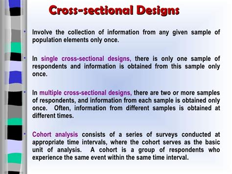 what is cross sectional design research design