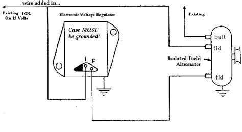 dodge chrysler jeep external voltage regulator wiring