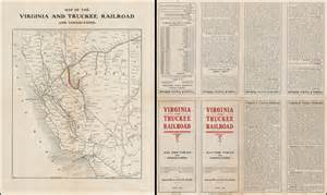 carson and colorado railroad map map of the virginia and truckee railroad and connections