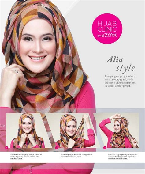 tutorial hijab zoya dengan gambar hijab tutorial zoya alia style uploaded by