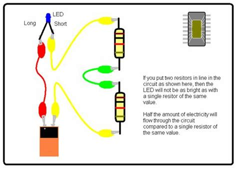 resistor with led in series wallace s resistors in series
