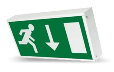 exit sign light box illuminated signs emergency exit maintained emergency