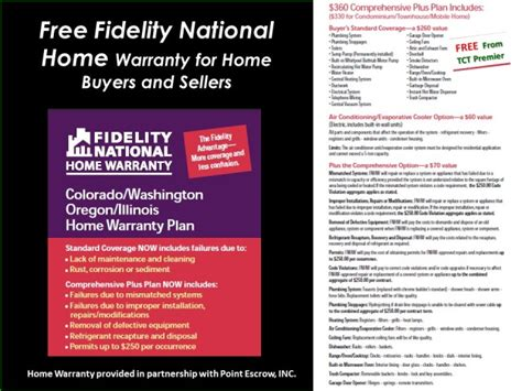 fidelity national home warranty comprehensive plus plan