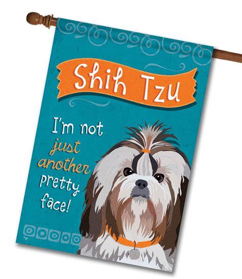 shih tzu in house shih tzu house flag 28 x 40 custom printed flags flagology