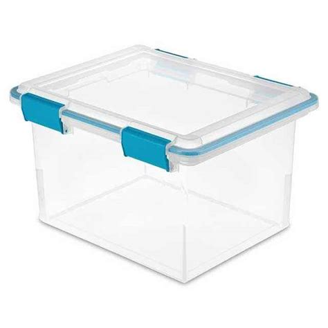 starlite storage containers sterilite gasket box 32 quart pack of 4