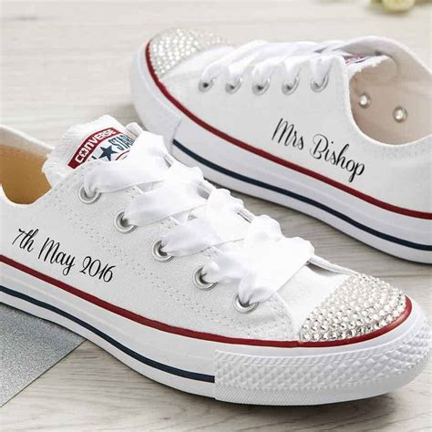 Wedding Shoes Converse custom wedding converse by nappy