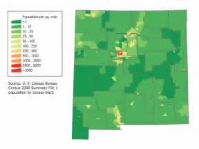 New Mexico Elevation Map by New Mexico Population Map Mapsof Net