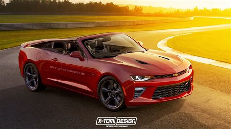 camero convertible new chevrolet camaro convertible rendered gtspirit